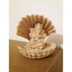 Ganesh in conchiglia bianco