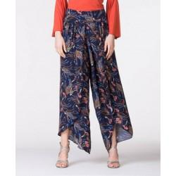 Pantalone aperto blu