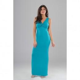 Vestito lungo azzurro