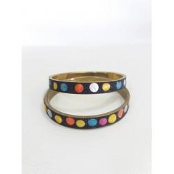 Coppia di bracciali rigidi multicolor