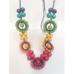 Collana 5 cerchi multicolor