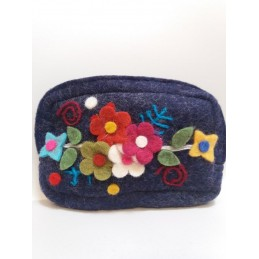 Bustina in lana cotta fiori