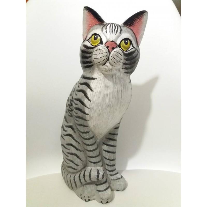 Gatto grigio cm 30