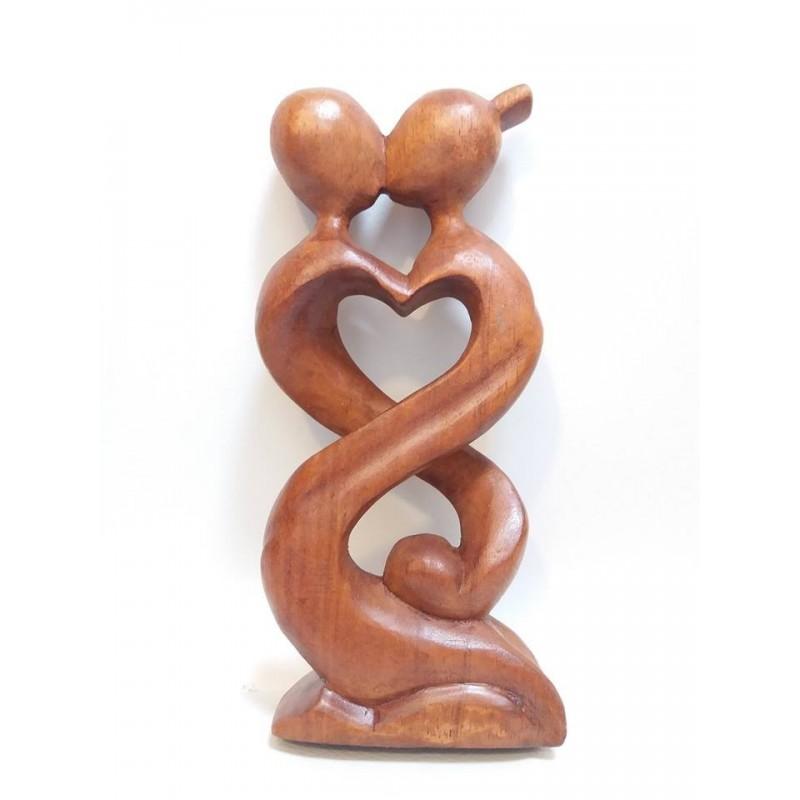 Statua cuore in legno