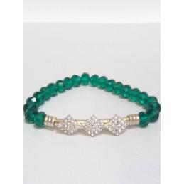 Bracciale perline verdi