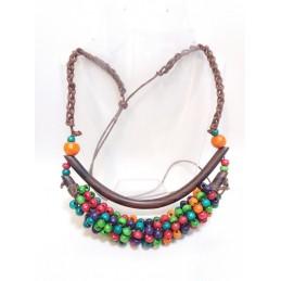 Collana 2 aste multicolor