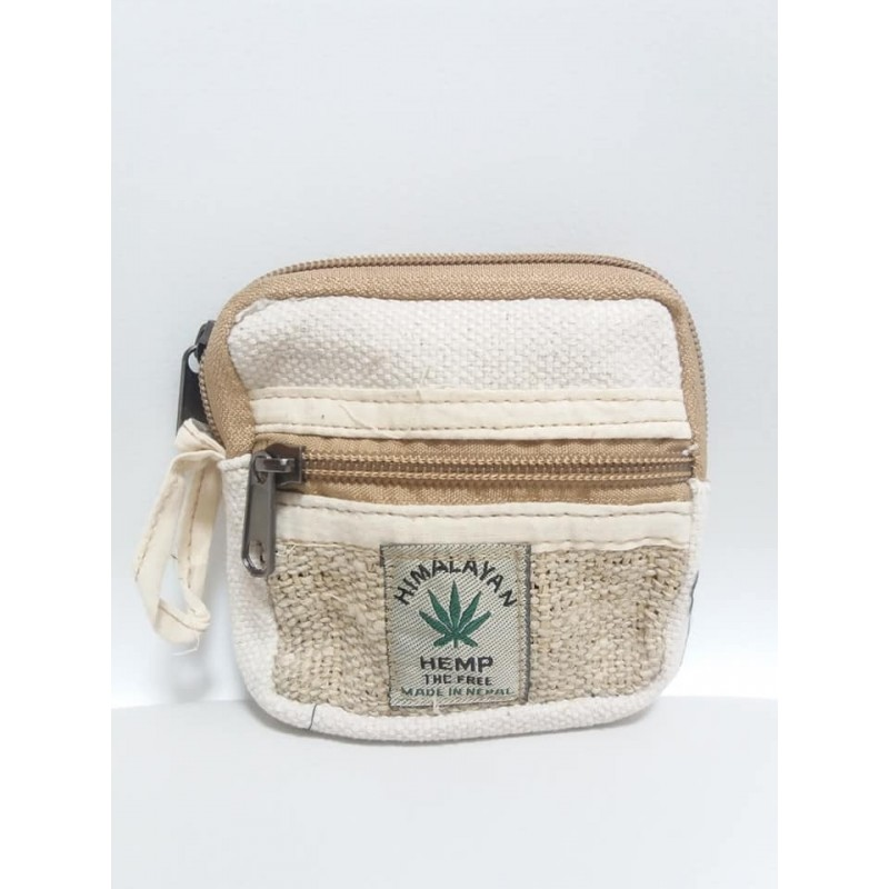 Portamonete in canapa/cotone