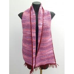 Sciarpa rosa/bordeaux