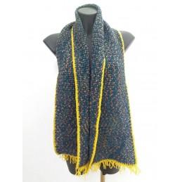 Sciarpa in lana frange ocra