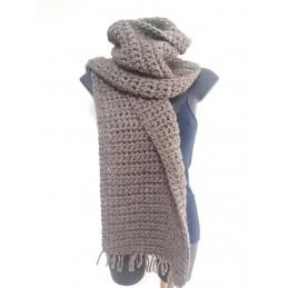 Sciarpa in lana alpaca grigio chiaro