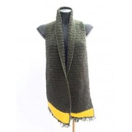 Sciarpa in lana verde scuro