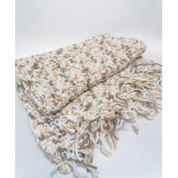 Sciarpa in lana bianco/beige