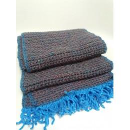 Sciarpa in lana blu