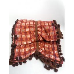 Sciarpa arricciata marrone