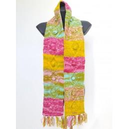 Sciarpa in lana base rosa