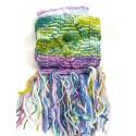 Sciarpa in lana base viola