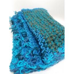 Sciarpa doppio filo blu/verde