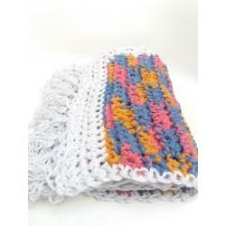 Sciarpa multicolor frange chiare