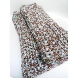 Scialle/sciarpa doppio filo lana e cotone