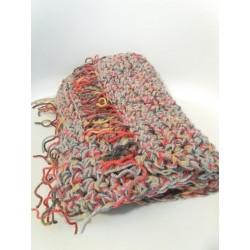 Sciarpa doppio filo grigio/multicolor