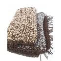 Sciarpa doppio filo sfumature di marrone