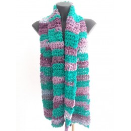 Sciarpa lana riccia verde