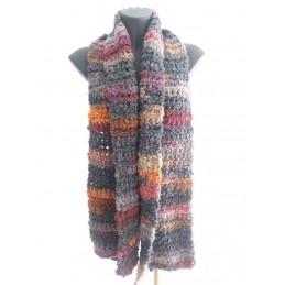 Sciarpa lana riccia sfumature 2