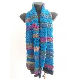 Sciarpa lana riccia azzurra