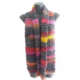 Sciarpa lana riccia fantasia