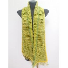 Sciarpa doppio filo giallo/verde