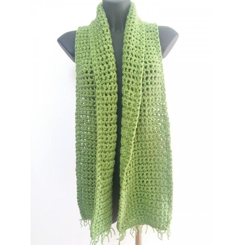 Sciarpa doppio filo verde