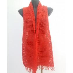 Sciarpa rosso brillante