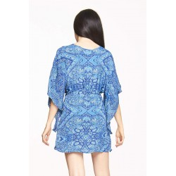 Camicia manica 3/4 blu